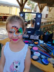 fete village dragon makeup