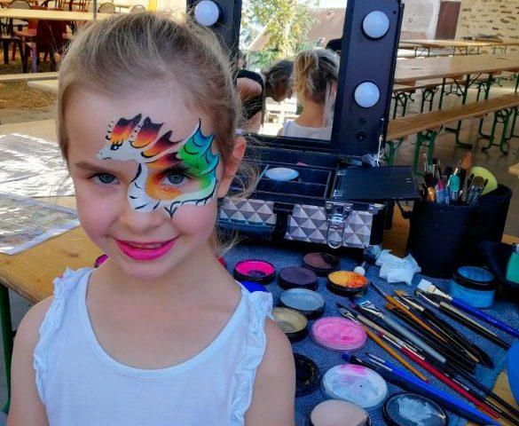 fete village dragon makeup
