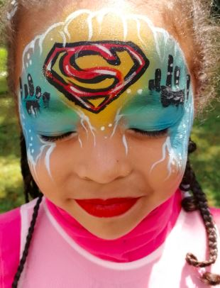 superwoman maquillage anniversaire enfant kid makeup