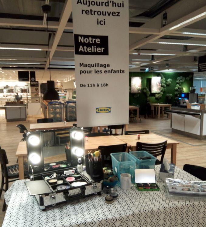 Stand Maquillages enfants - IKEA Evry - Essonne (91) ile de France