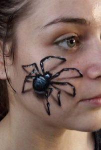 maquillage-araignée-3D